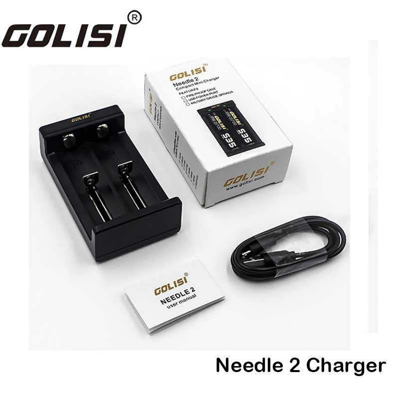 Original Golisi Needle 2 Charger Smart USB Charger Two Battery Slot Intelligent Digicharger For 26650/18650/20700/21700 Battery