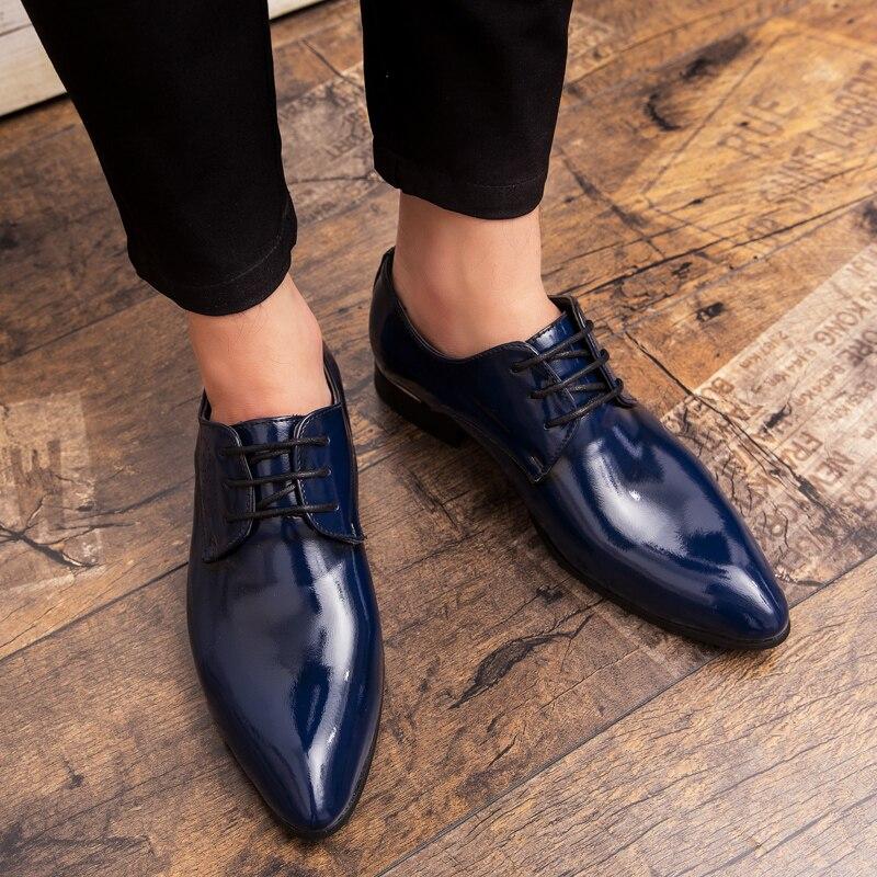 Social Hommes Qualité red De Marque Bleu Vin Chaussures brown Shoes Luxe Bureau Thestron D'or Shoes Mâle Rouge Noir Black Formelle Robe Bout Shoes blue Shoes nax1At