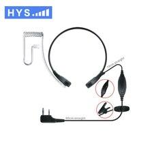 HYS Tc-314 2 Pin K Connector Throat Control Two Way Radio Earpiece/headset PTT for  Walkie Talkie Ham Radio