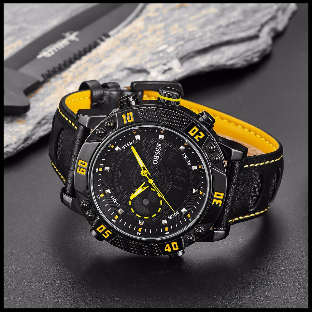 OHSEN Brand Mens Fashion Casual Reloj Quartz Watch Digital LED Relogios Military Relogio Masculino Diving Waterproof Men Watches (28)