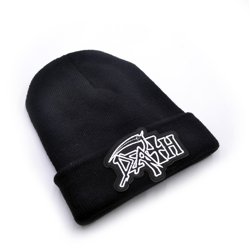 Death band Men s Skullies Winter Knitted Hat Male Beanies Cap Casual Solid  Color Sets Headgear Hats For Men-in Skullies   Beanies from Apparel  Accessories ... c4cfa0e9064