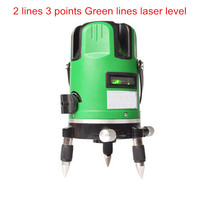 Niveau Laser Rotatif 360 Laser Nivellement Cross Laser Can Be Used Outdoor 2 Lines 3 Points Green Laser Level Construction Tools