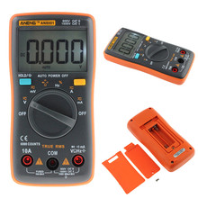 High Quality AN8001 Digital Multimeter Backlight 6000 Counts AC/DC Volt Orange Portable MeterH52 an8001 portable digital multimeter 6000counts backlight ac dc ammeter professional multifunction digital multimeter