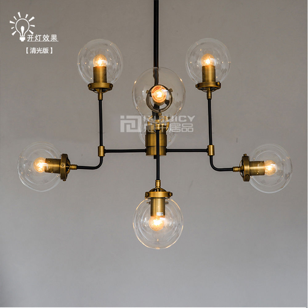 ∞Loft Industriële Retro Glas Plafondlamp Bubble Bal Droplight Cafe ...