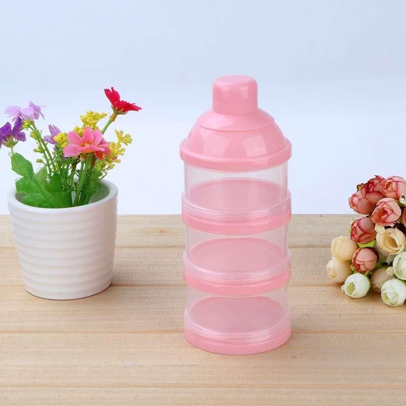 Drei Grid Boxen Snacks Süßigkeiten Liefert Box Tragbare Newbon Baby Milch Behälter Kleinkind Kinder Formel Milch Pulver Box Fütterung
