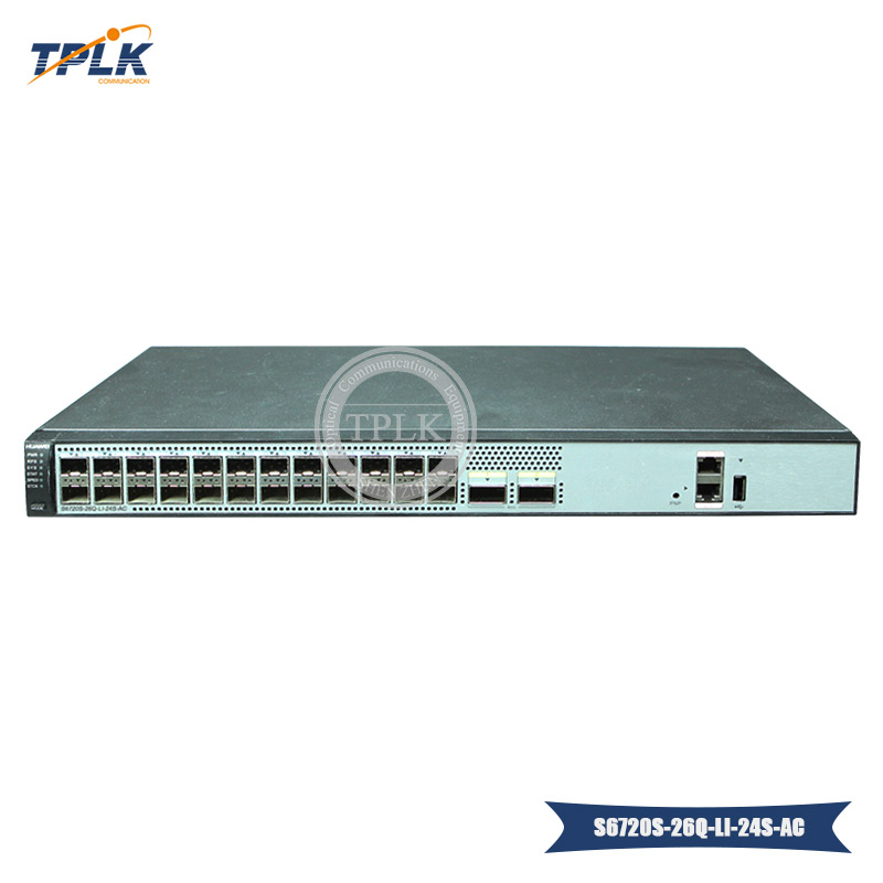 Original S6720 LI Series S6720S 26Q LI 24S AC switch with 24x10GE SFP 2x40GE QSFP Ports