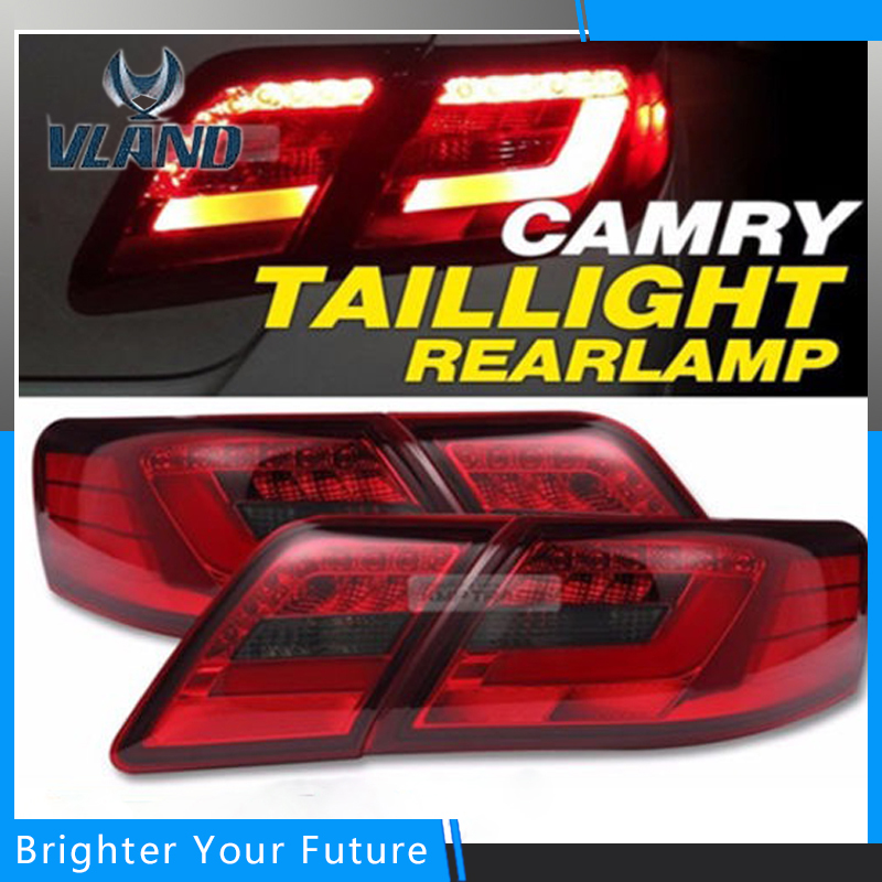 Tail Lights Red Clear Color For 2007-2009 Toyota Camry Brake Rear Lamps Assembly  L+R for nissan gtr gtr r35 led tail lights 2007 red