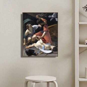 Cupido castigado por Thomas Wyatt pared arte Cartel de la lona y la impresión de lona de pintura decorativa foto para la sala de Decoración de casa