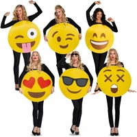 Adult Unisex Emoticons Emoji Face Woman Or Mens Sandwich Board Funny Costume For Halloween Or Valentines