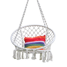 Cotton Rope Hammock Chair Swing For Kids Hand Knitting Macrame Swing Set Children Indoor Outdoor Chair Rocking Baby Sleep Bed цена 2017