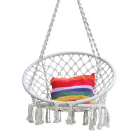 Cotton Rope Hammock Chair Swing For Kids Hand Knitting Macrame Swing Set Children Indoor Outdoor Chair Rocking Baby Sleep Bed