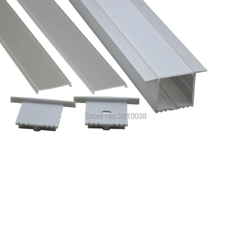 10 sady / typ T typ anodizovaný stříbrný Led Aluprofil 2M a - LED Osvětlení