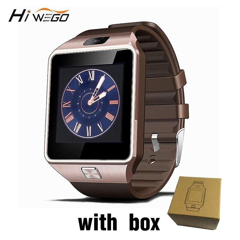 Смарт часы с Сим слот для карт нажмите сообщение Bluetooth Подключение Android телефон лучше, чем DZ09 Smartwatch Для мужчин часы
