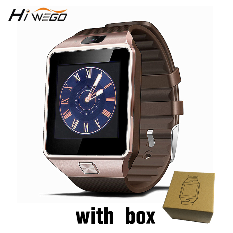 Smart Uhr Uhr Mit Sim Karte Slot Push Nachricht Bluetooth Konnektivität Android Telefon Besser Als DZ09 Smartwatch Männer Uhr