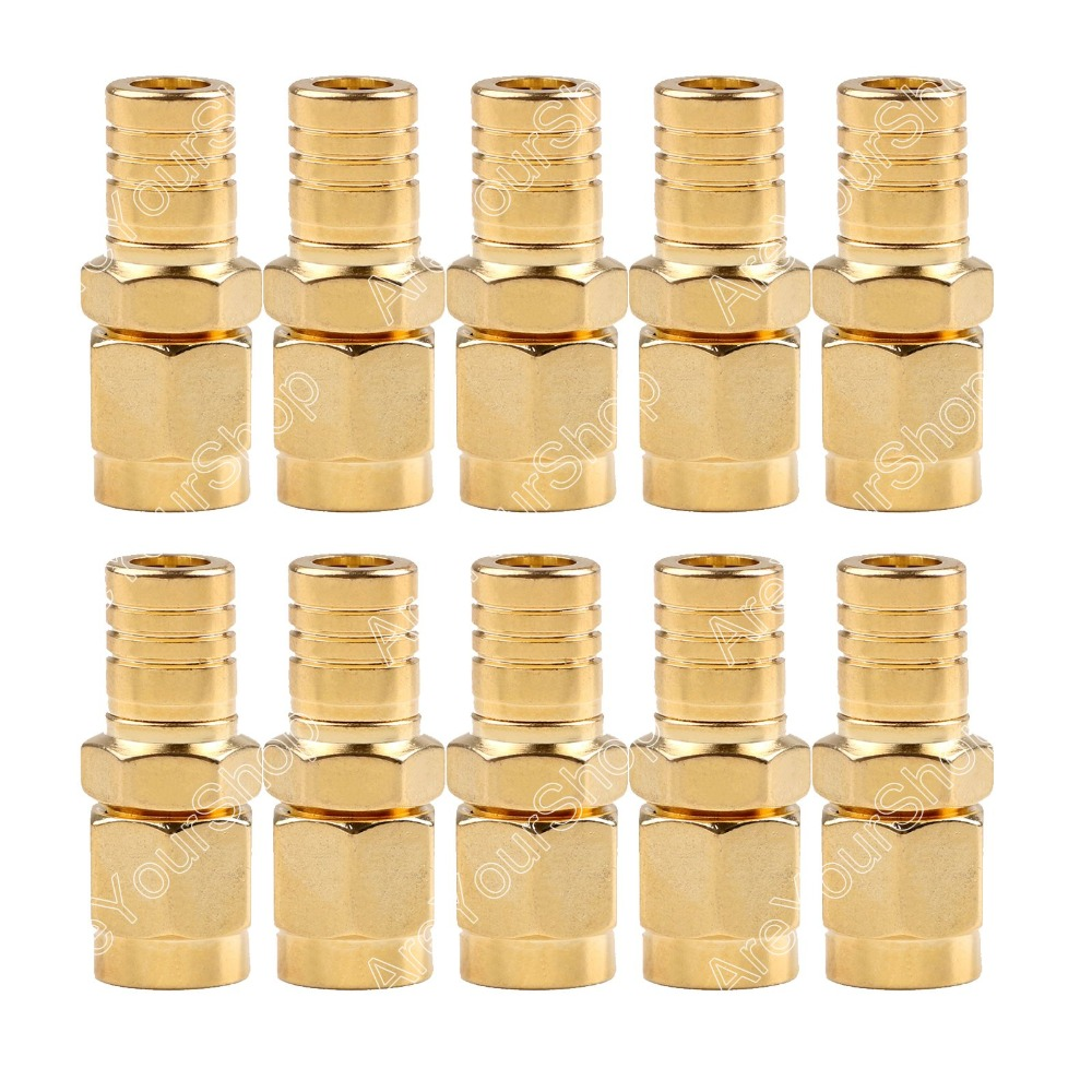 Sale 10 Pc Adapter SMA Male Plug To SMB Female Jack RF Connector Straight Gold Plating High Quality minijack plug Wire Connector 1pc adapter n plug male nickel plating to sma female gold plating jack rf connector straight vc720 p0 5