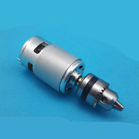 775 DC Motor 12V Double Bearing Drill Drill Chuck Model Connecting Rod 24V Tools