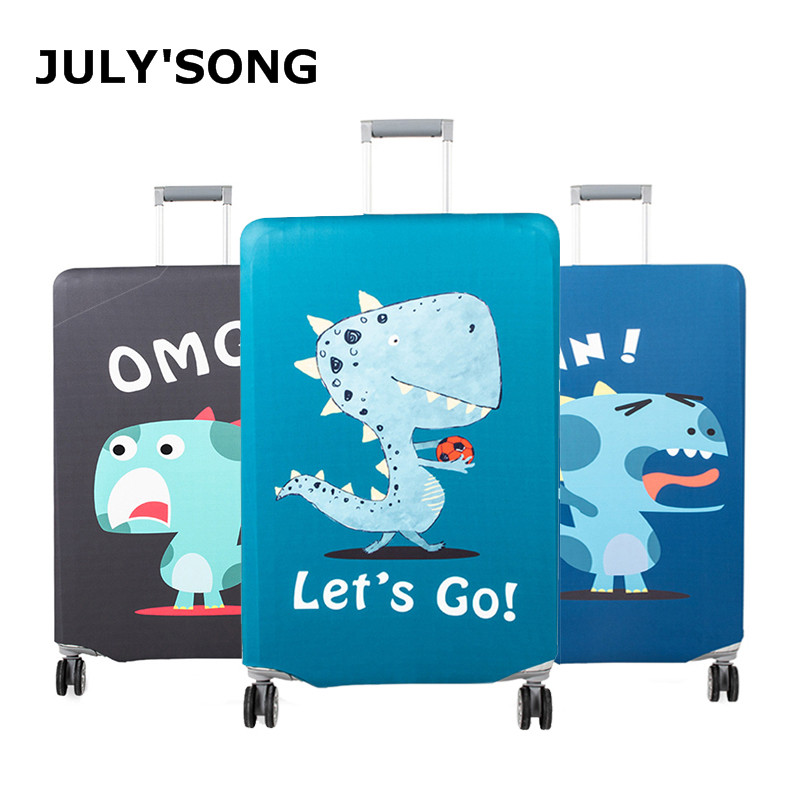 JULY'S SONG Elastic Travel Suitcase Cover Thicken Protection Suitcase Case Cover Dust-proof Luggage Cover For Case Suitcase