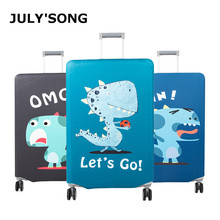 JULYS SONG Elastic Travel Suitcase Cover Thicken Protection Case Dust-proof Luggage For