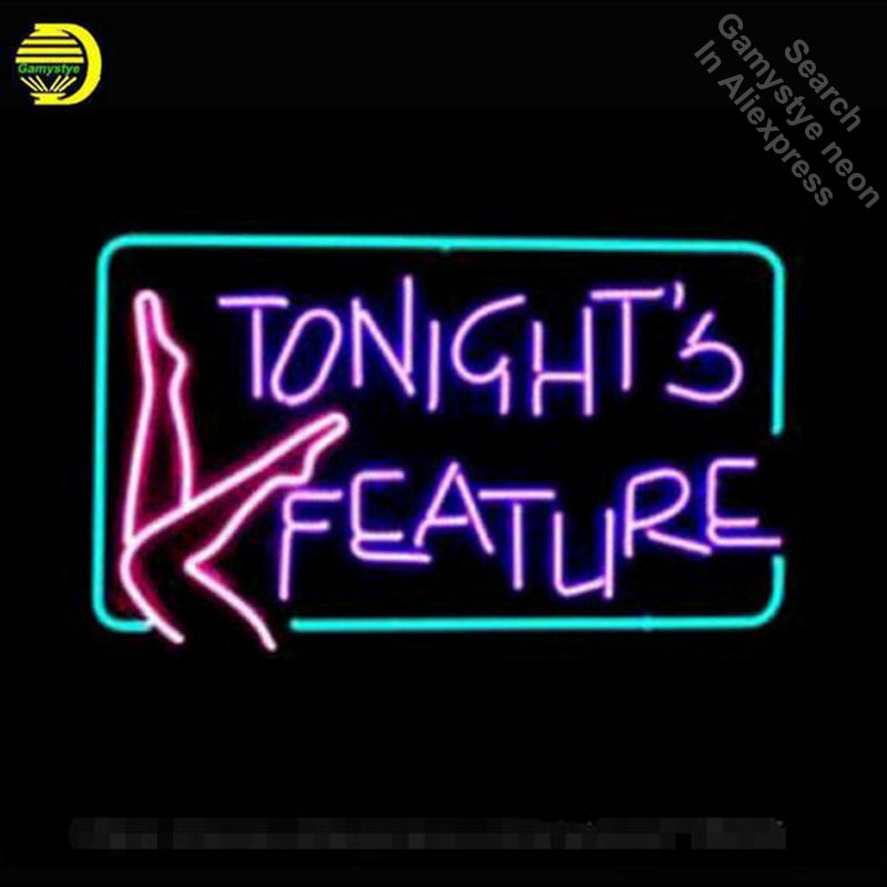 Tonights Feature Neon Sign Glass Tube Cool Neon Bulbs Beer Bar Pub Recreation Home Frame Sign Advertise Display neon lights Sign yatour ytm07 fa for fiat new bravio panda idea punto alfa romeo lancia ipod iphone usb sd aux digital media changer