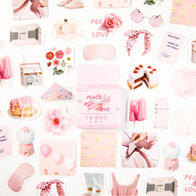 46 pcs/lot Cute Pink girl mini paper sticker DIY decoration stickers craft diary album scrapbooking kawaii label sticker недорого