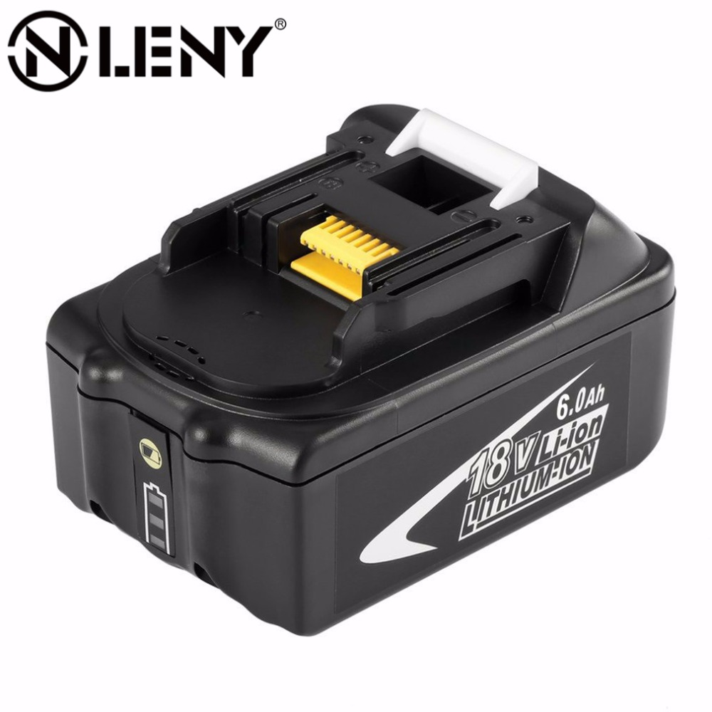 BL1860 18V Rechargeable Lithium Ion 6.0Ah Battery Replacement Power Tool Packs for MAKITA BL1860 High Quality !!! 18v 6000mah rechargeable battery built in sony 18650 vtc6 li ion batteries replacement power tool battery for makita bl1860