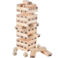 WYNLZQ Baby Wooden Toys Blocks Balance Game Building Block Early Educational Brick Toys Table Children Game Numbers Kindergarten