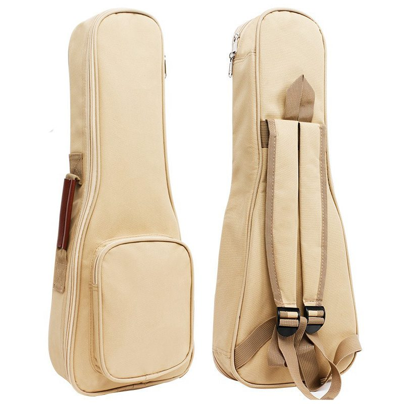 Waterproof Ukulele Bag Case Backpack Ukelele Guitar Accessories Beige 26/27 inch - 75*28cm 12mm waterproof soprano concert ukulele bag case backpack 23 24 26 inch ukelele beige mini guitar accessories gig pu leather