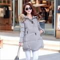 Free Shipping 2016 New Aarrivals Fashional Women Hoody Long Style Warm Winter Coat Women Plus Size coat S-XXXL