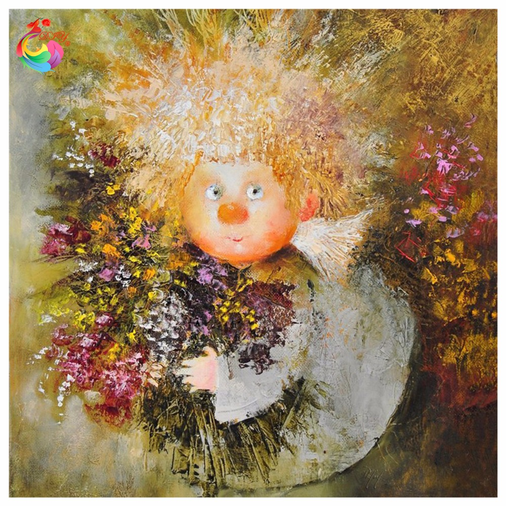 Girl Painting Sequins Embroidery Pattern Cubo Rubik Full Drill Round  Diamond Painting Angel Painting Rhinestones Wall