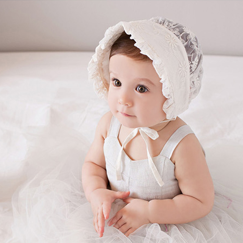 c31138f41c3 ... clearance crochet baby hats zoom yranqbk nordic vintage style baby girl  lace beanie hat infant princess