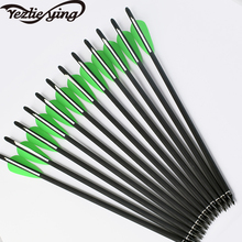 6/12/24Pcs Mix Carbon Crossbow Arrow 17Inch OD 8.8 mm With 125 Points For Archery Hunting High Quality