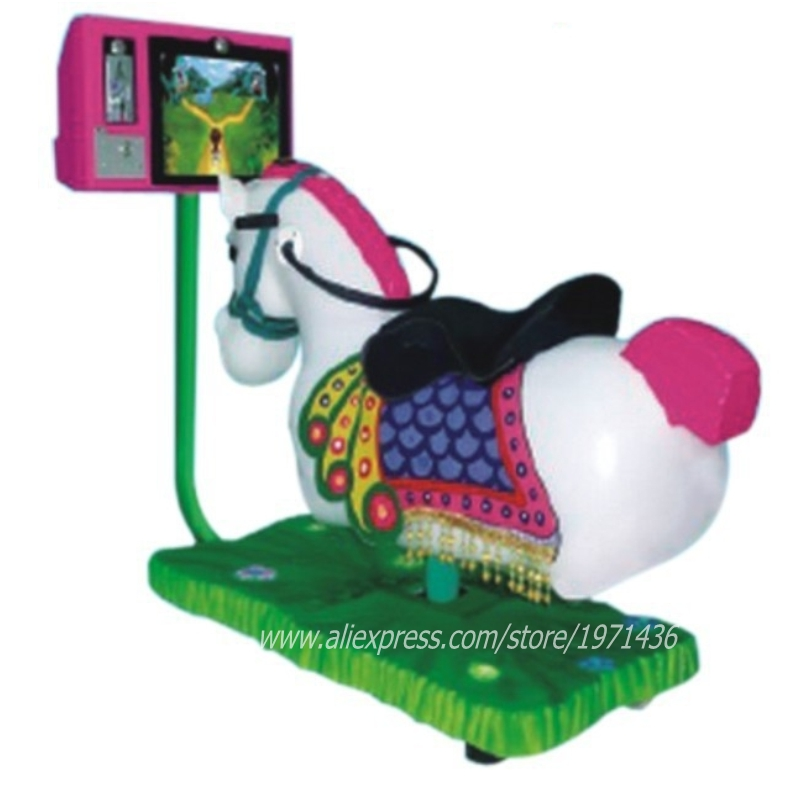 Hot Sale Coin Operated Video Horse Kiddie Rides Game Machine