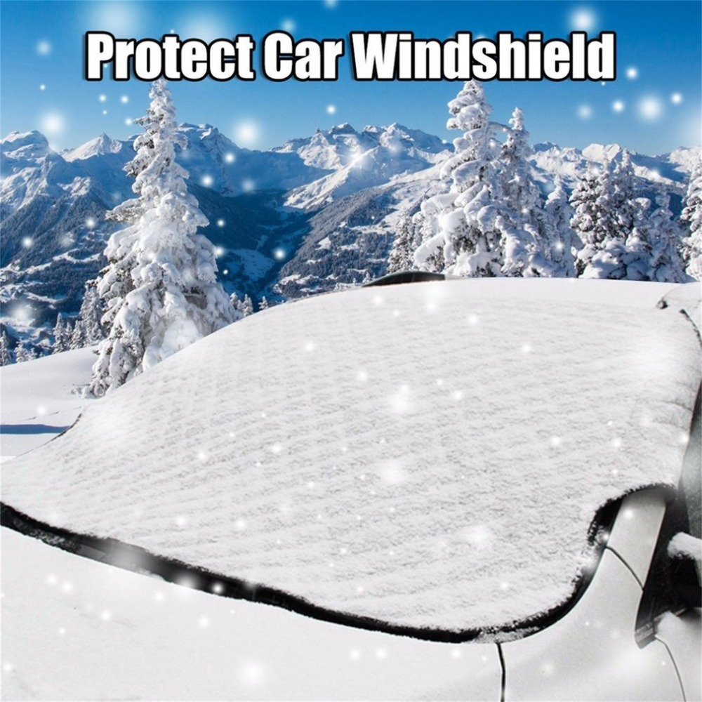 Universal Car SUV Front Windshield Snow Cover Frost Sun Shade Protective Shield Windshield Thicker Cover Waterproof Dust-proof