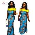 Африканский Стиль Одежды для Женщин Длинные Русалка Платья Плюс Размер 6xl Dashiki Партии Платье Африканских Воск Печати Платья BRW Y364