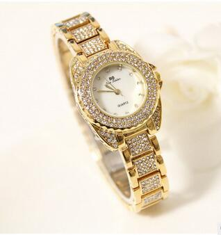 BS brand Crystal Diamond Rolling Bracelet Women s Watches Brand Luxury Fashion Ladies Watch Women Quartz