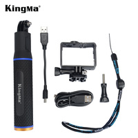 KingMa Gopro 4/3/3+ monopod handheld rechargeable grip and double duty Expanded Edition Frame Mount Protective Housing Case