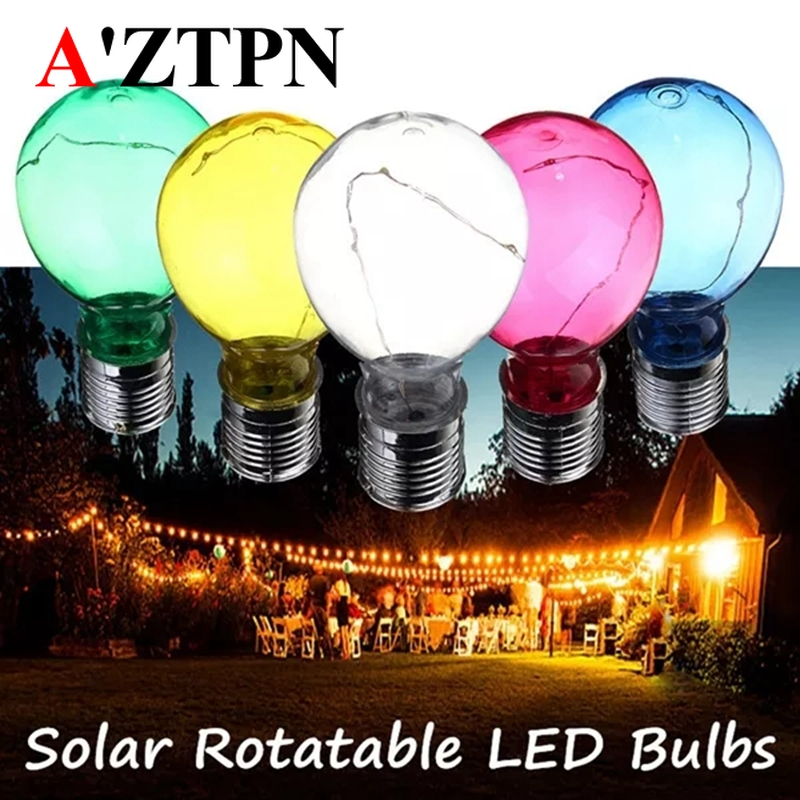 Led Solar Camping Hanging bulbs Outdoor Waterproof LED Lights Bulb for Garden Yard tree Decoration