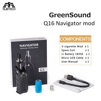 5PCS/LOT New GreenSound Q16 Navigator mod kit TPD E Cigarettes Kits electronic cigarette huge vapor 510 thread
