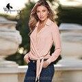 WomensDate 2017 Spring Large Size Women Long Sleeved V-Neck Blouses Shirt Femmes Chemise