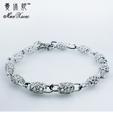 2018 New Silver color Jewelry Hollow Out Bead Bracelet Fashion Bracelet for Women pulseras mujer Bangles Bracelet pulseras
