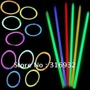 M6 Free shipping Led flashing lighting wand,DIY fluorescence glow sticks bracelets 50pcs/lot