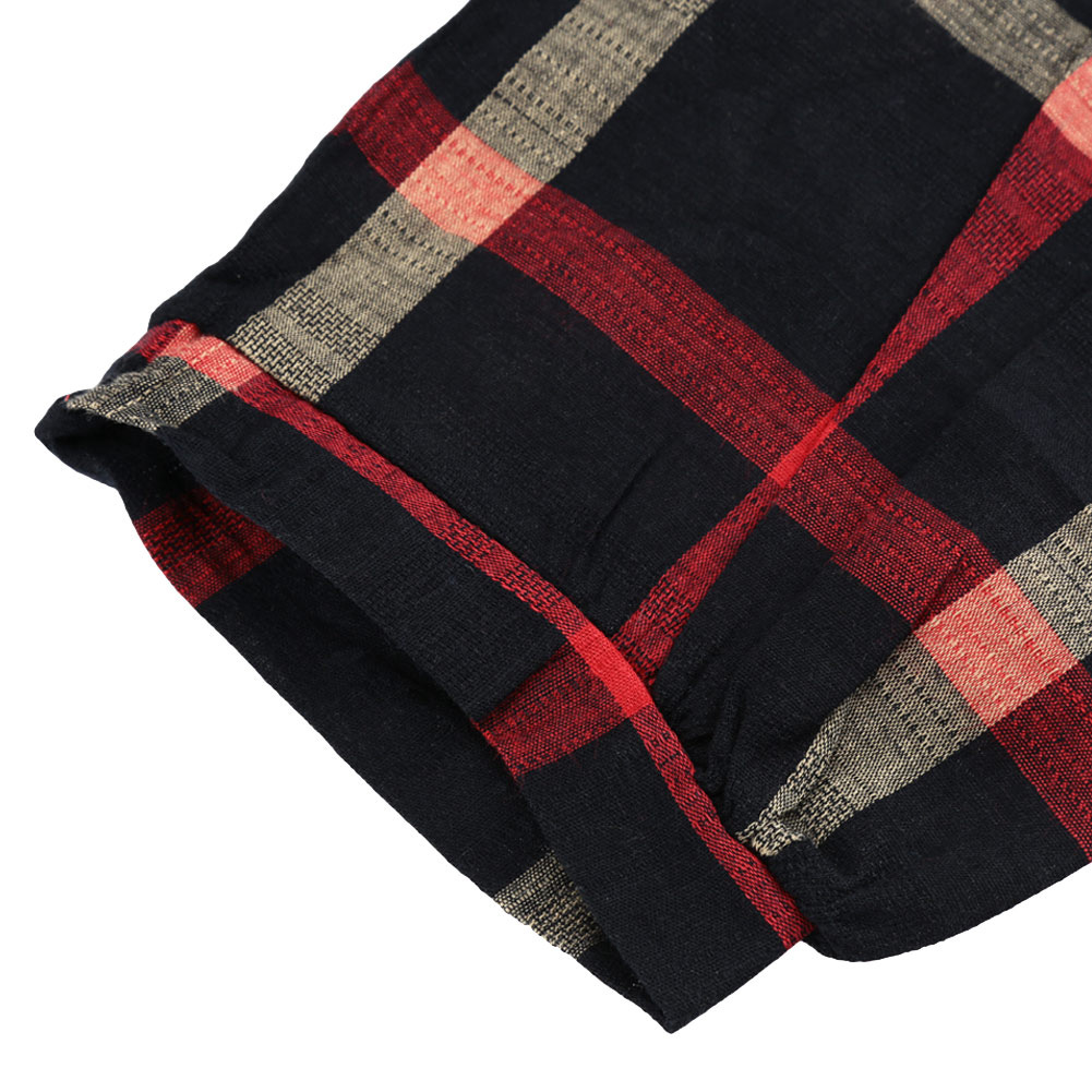 ed76f8f4e1eb8 2019 3XL 4XL 5XL Plus Size Top Women Plaid Blouse Vintage O Neck 3 4 Sleeve  Line Casual Ladies Shirts XXXXL Blusas Femininas Red-in Blouses   Shirts  from ...