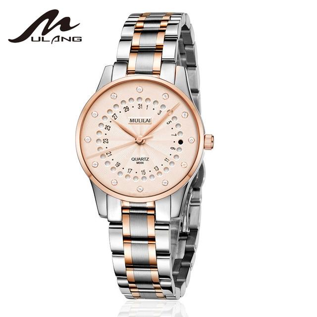 New Women's Watch Luxury Brand Rotating Calendar Quartz Wristwatches Women's Rhinestone Starry Rose Steel Watch relogio femenino 4