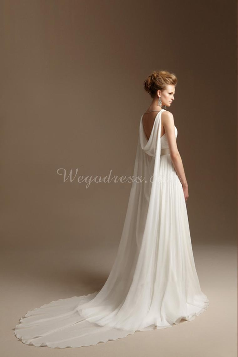 Dress grecian style dress ideas for Wedding dress with cape train