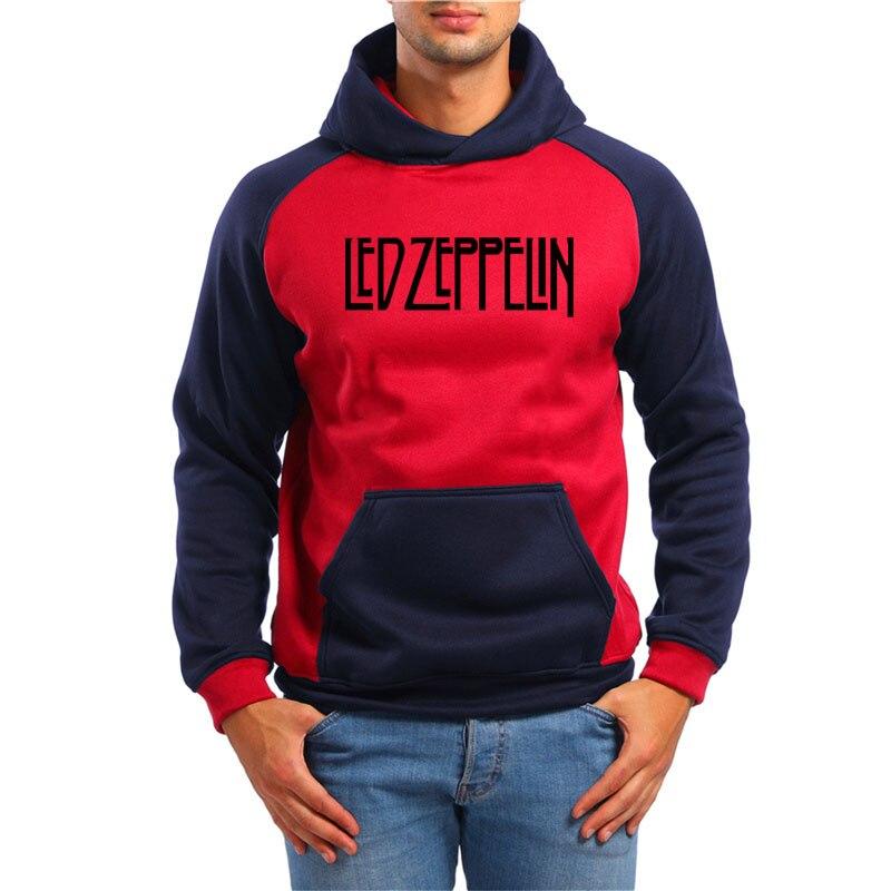 Rock And Roll Led Zeppelin Rock Zoso Fleece Hoodies Heavy Metal Band Fan Punk Hoody Sweatshirts Pullover Hooded K-pop Tracksuits Men's Clothing