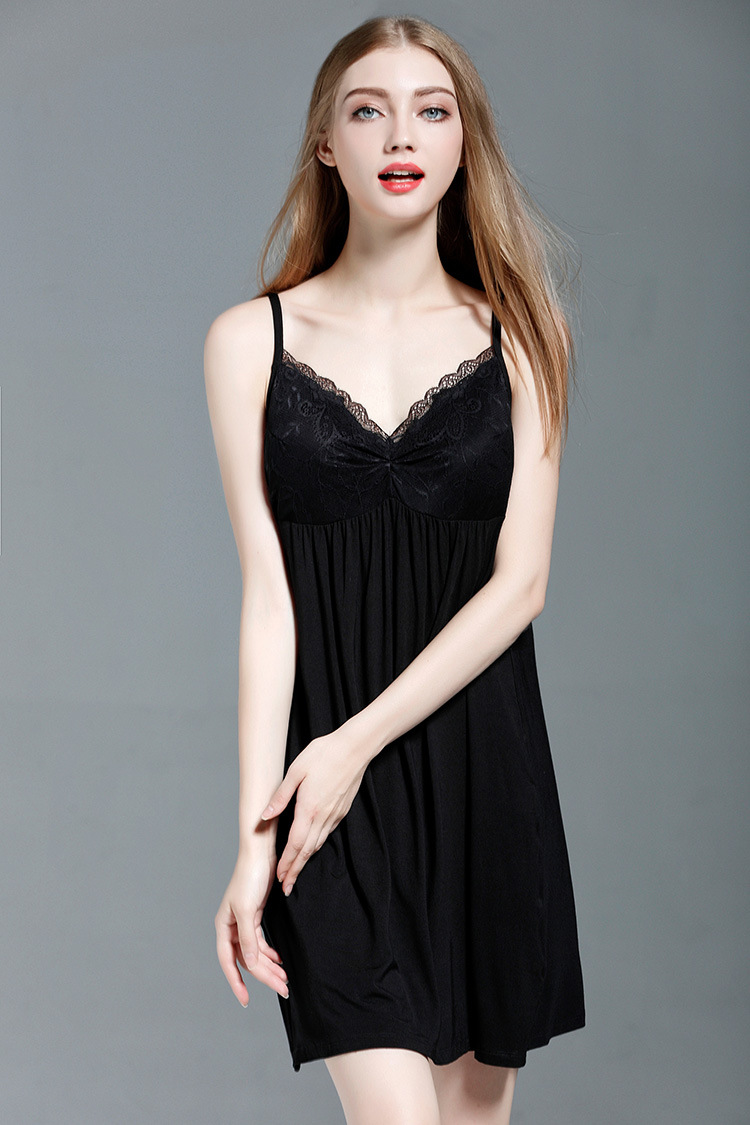 Free shipping.Brand new modal smooth womens Sleep skirt,sexy lace nightgowns home clothing,femme soft sales loose