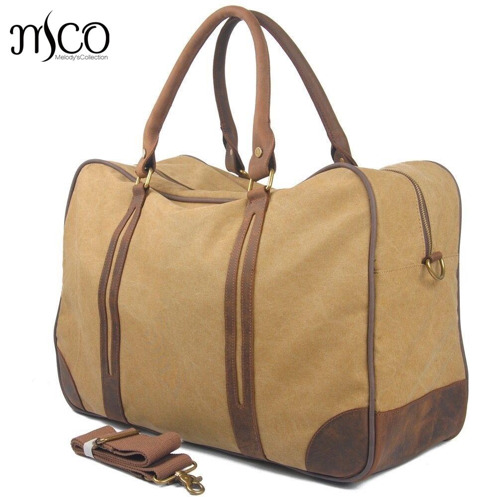 Vintage Military Luggage Travel Bags Large Capacity Weekend Handbag  Waterproof Oil Wax Canvas Men Travel Duffel Overnight Tote - aliexpress.com  - imall.com 344ce11cff40b
