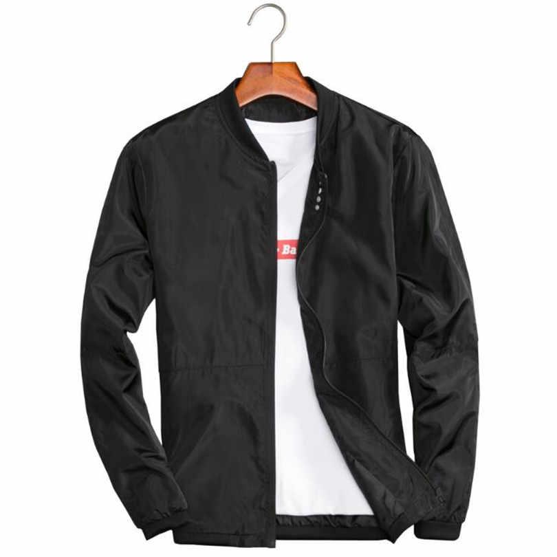 d0fa9f5d7cc ... Мужские сезон  весна–лето куртки Повседневное тонкий мужской ветровки  Колледж куртка-бомбер черный