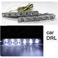 Hot! Car LED*2 1 pairs small harpoon power 6LED Waterproof super bright with turn Car Daytime Running Lights