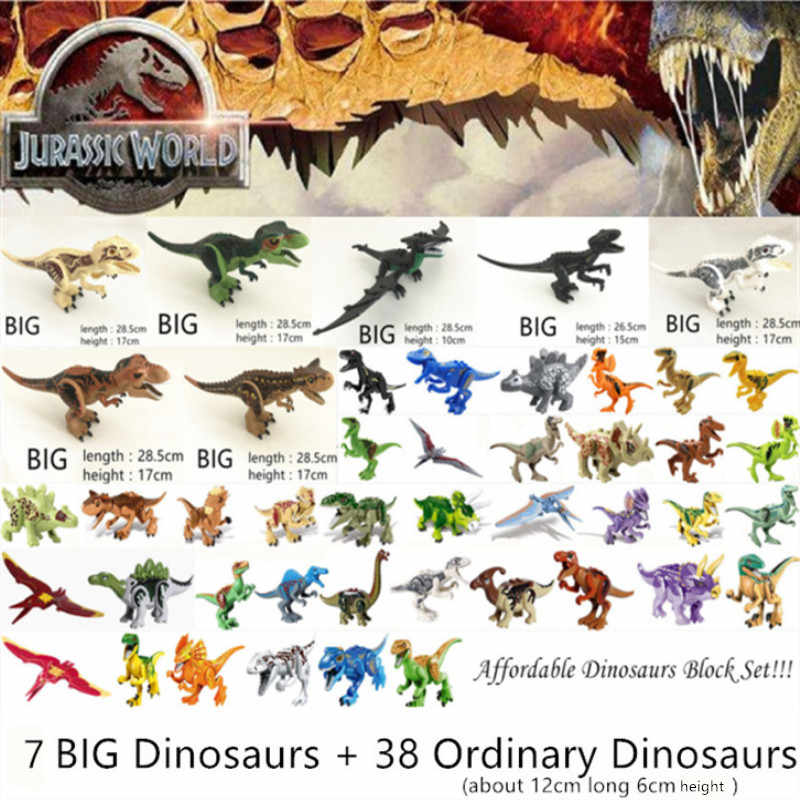 Legoed Jurassic World Park Dinosaurs Family Building Blocks Affordable Set Tyrannosaurus Rex Educational Toys Gift For Children